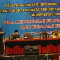 Wujudkan Pelayanan Akademik yang Bermutu, Universitas Riau Laksanakan Pelatihan SIA dan PDPT Bagi Operator Fakultas