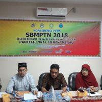 Konferensi Pers SBMPTN 2018 Panitia Lokal 19 Pekanbaru